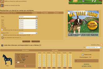 Horzer - Acheter un cheval aux encheres et autres interactions
